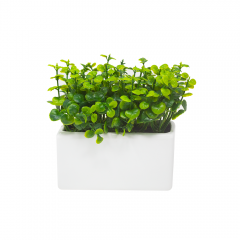 PLANTA ARTIFICIAL EN MACETERO RECTANGULAR BLANCO
